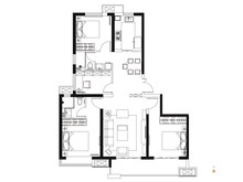 4室2厅2卫143平户型