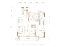 3室2厅2卫A区-2  123㎡户型