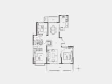 2室2厅1卫20-21#130㎡户型