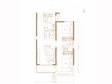 2室2厅1卫86㎡户型