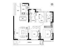 3室2厅2卫129㎡户型