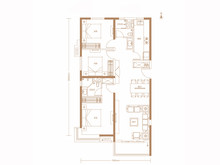 3室2厅2卫125㎡户型
