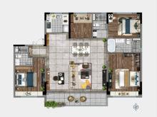 4室2厅3卫172㎡户型
