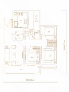 3室2厅1卫99㎡户型