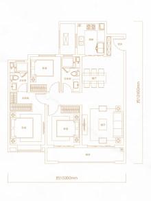 3室2厅2卫126㎡户型