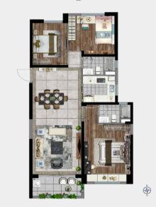 3室2厅2卫124㎡户型