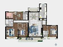 5室2厅3卫228㎡户型