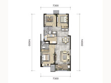 3室2厅2卫C户型